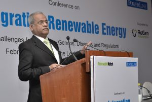 "S.K. Soonee, CEO, Power System Operation Corporation, at the ""Integrating Renewable Energy"" conference orgainsed by Renewable Watch"