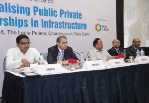 "(From left) Anish De, Partner, KPMG; Ravi Seth, Chief Financial Officer, ReNew Power Ventures; Sunil Jain, CEO and Executive Director, Hero Future Energies; Rajya Wardhan Ghei, CEO, Hindustan Cleanenergy; and P.R. Jaishankar, Chief General Manager, IIFCL, at the ""Revitalising PPP in Infrastructure"" conference organised by Indian Infrastructure"