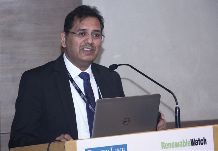 "Dinesh Agrawal, Executive Director, Khaitan & Co, speaks on the impact of GST on renewables, at the ""Impact of GST on Power Sector"" conference organised by Renewable Watch in Mumbai"