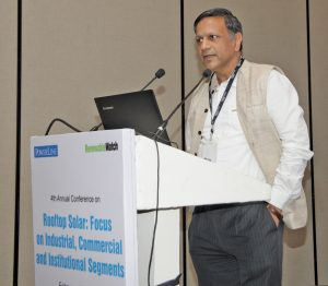 "Vinod Kala, Managing Director, Emergent Ventures, at the ""Rooftop Solar"" conference organised by Renewable Watch"