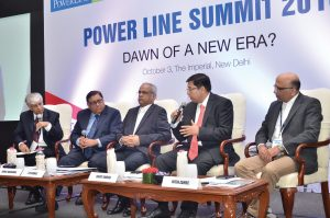 (From left) Sunil Wadhwa, Chief Executive Officer (CEO), IL&FS Energy Development Company Limited; Sushil Kumar Soonee, CEO, POSOCO; Sujoy Ghosh, Country Head, First Solar; and Nitin Zamre, Managing Director, ICF International, at the Power Line Summit 2016