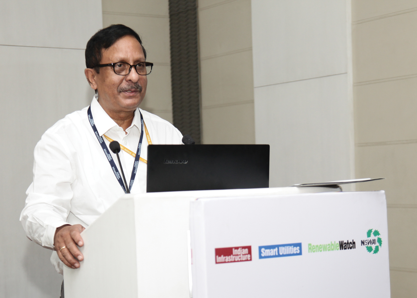 Dr D.K. Khare, Director, MNRE, speaking at Renewable Watch's conference on Waste to Energy