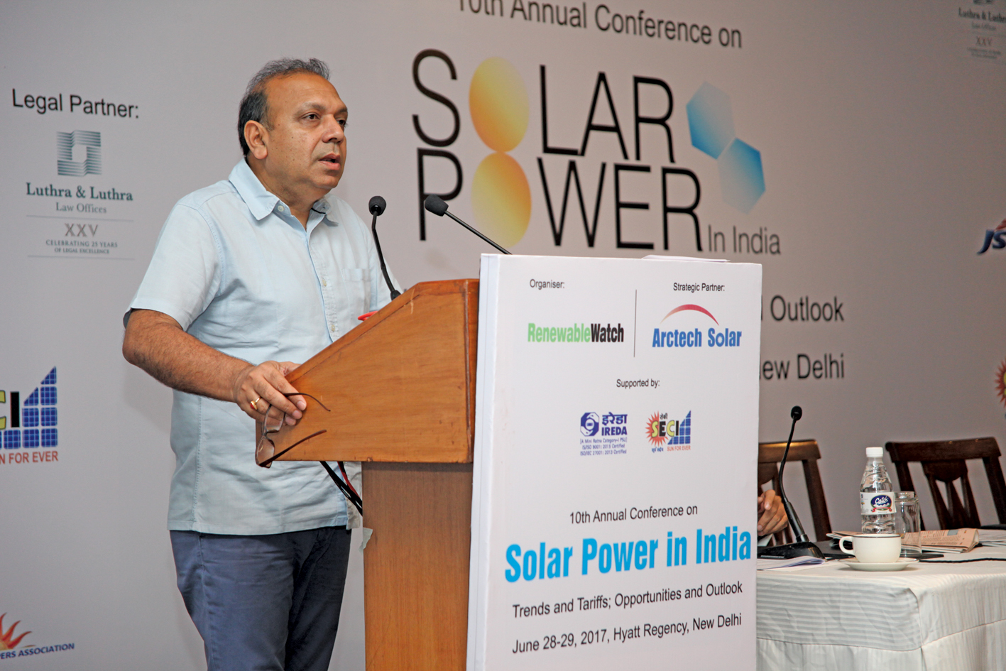 "Anand Kumar, Secretary, Ministry of New and Renewable Energy, at Renewable Watch's 10th Annual Conference on ""Solar Power in India"", in New Delhi"