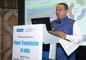 "Dr Subir Sen, Chief Operating Officer, CTU-Planning and Smart Grids, Power Grid Corporation of India, delivers the keynote address at the ""Transmission Infrastructure in India"" conference organised by Power Line"