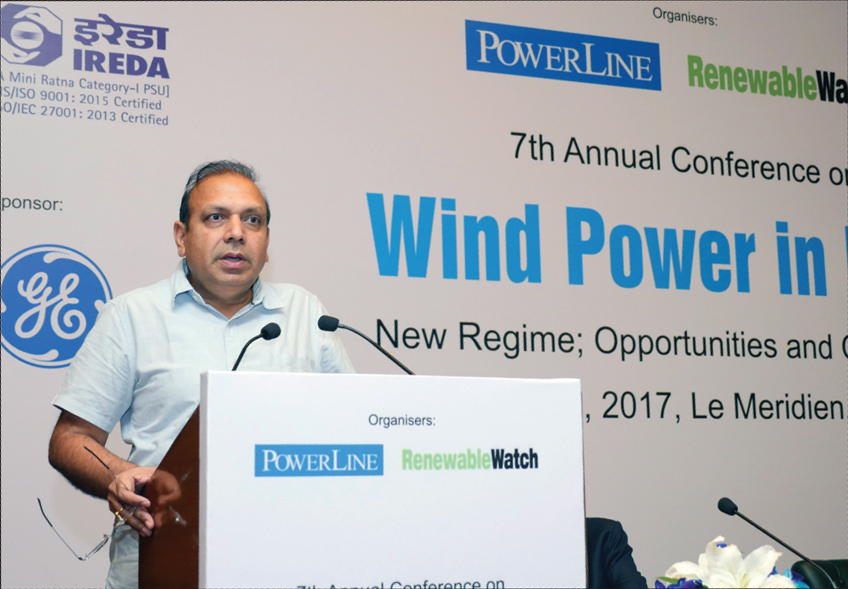 "Anand Kumar, Secretary, Ministry of New and Renewable Energy, delivers the keynote address at Renewable Watch's ""Wind Power in India"" conference"
