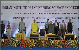 Former President Pranab Mukherjee inaugurates the Bio-Solar- Wind Microgrid Centre and the Centre for Water and Environment Research at the Indian Institute of Engineering Science & Technology, Shibpur, West Bengal