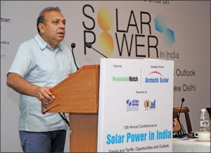 "Anand Kumar, Secretary, MNRE, at Renewable Watch's 10th Annual Conference on ""Solar Power in India"", in New Delhi"
