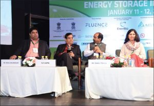 (From left) Dr Rahul Walawalkar, President and Managing Director, Emerging Technologies and Markets, Customized Energy Solutions; R.P. Gupta, Additional Secretary (Energy), Niti Aayog; Dr Rahul Tongia, Fellow, Brookings India; and Shruti Mahajan, Adviser, Renewable Energy, Central Electricity Regulatory Commission, at the 5th Energy Storage India Expo and Conference 2018 in New Delhi