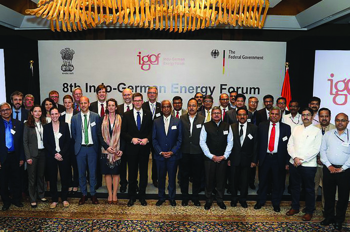 Indian and German dignitaries at the 8th Indo-German Energy Forum 2019 in New Delhi